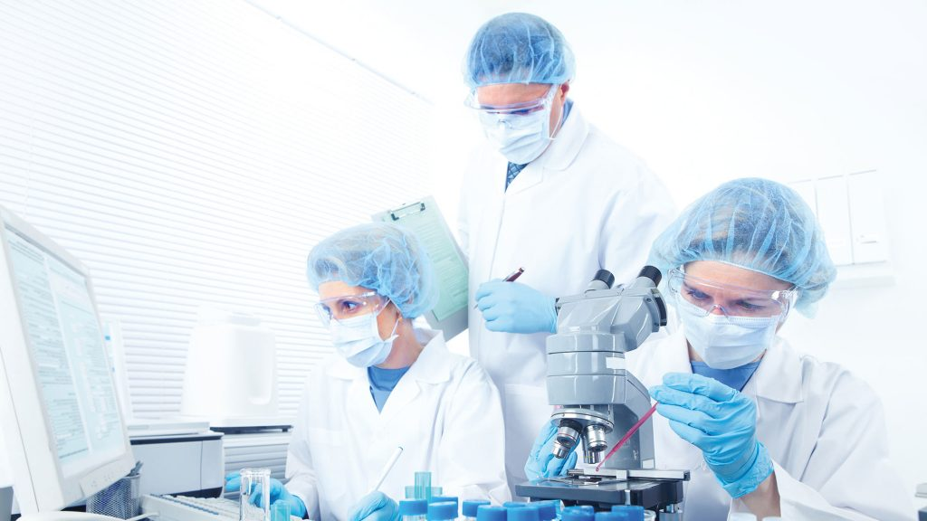 Photo of people in a forensics laboratory
