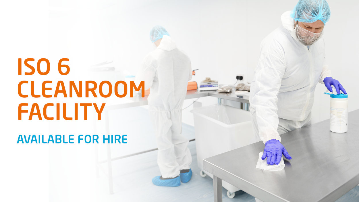 ISO 6 Cleanroom Facility to hire banner